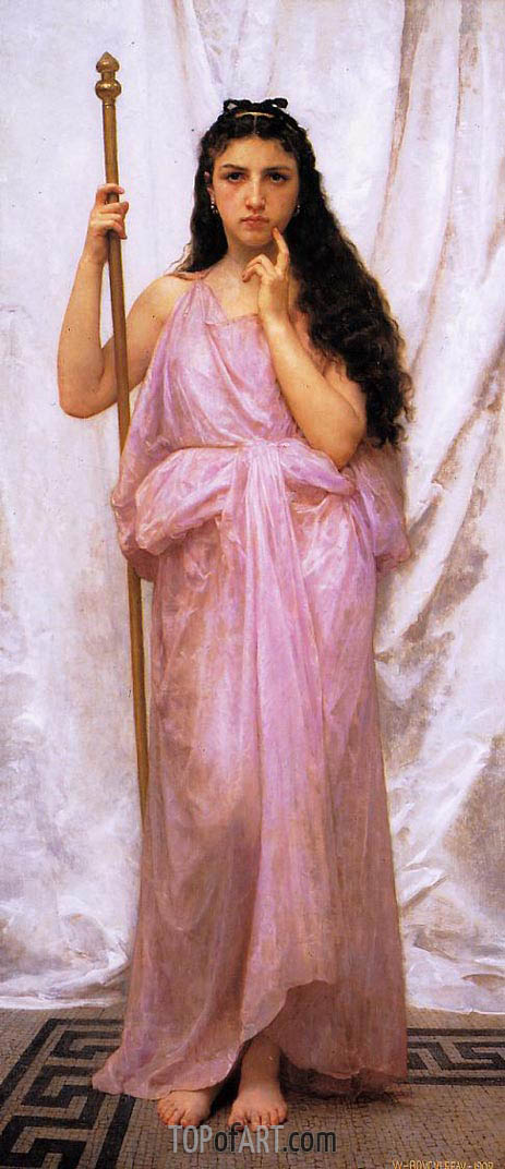 Young Priestess, 1902 | Bouguereau | Painting Reproduction