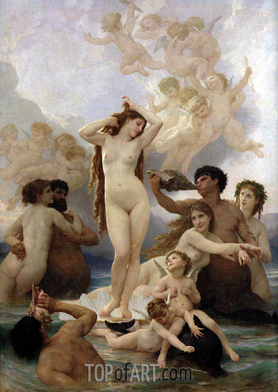 The Birth of Venus, 1879 | Bouguereau | Painting Reproduction