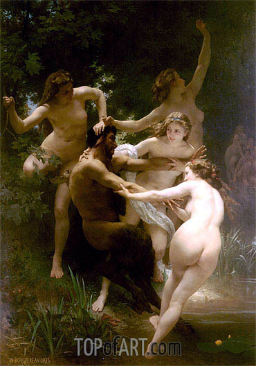 Nymphs and Satyr, 1873 | Bouguereau | Painting Reproduction