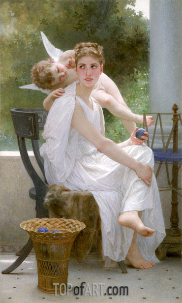 Work Interrupted (Penelope), 1891 | Bouguereau| Gemälde Reproduktion