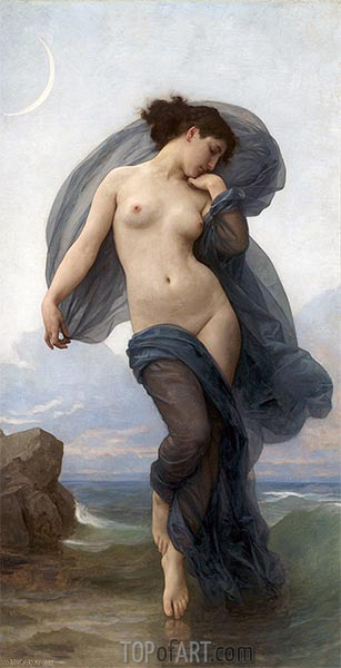Evening Mood, 1882 | Bouguereau| Painting Reproduction