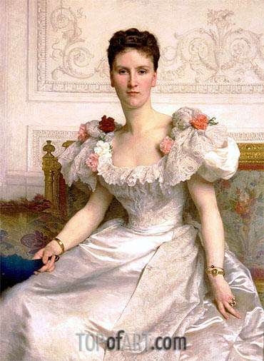 Portrait of Madame la Comtesse de Cambaceres, 1895 | Bouguereau| Painting Reproduction