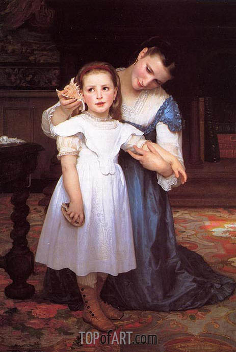 The Shell, 1871 | Bouguereau | Painting Reproduction