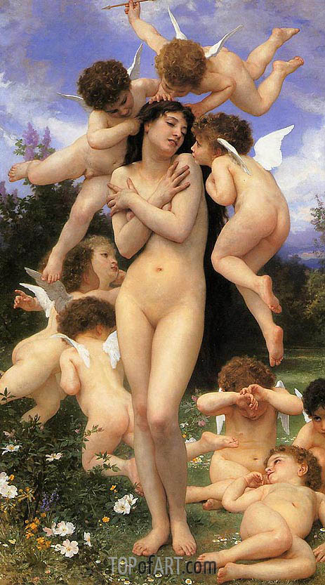 The Return of Spring, 1886 | Bouguereau | Gemälde Reproduktion