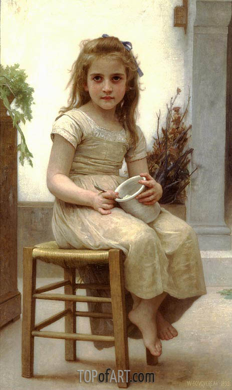 Just a Taste, 1895 | Bouguereau | Painting Reproduction