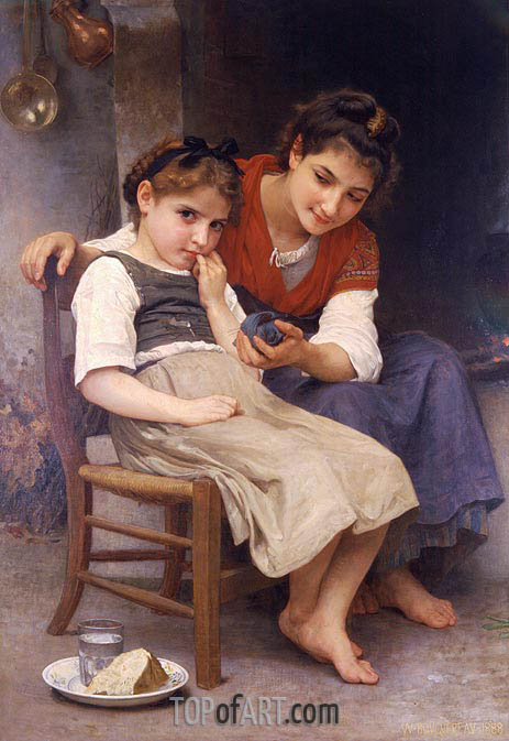 The Little Sulk, 1888 | Bouguereau | Painting Reproduction