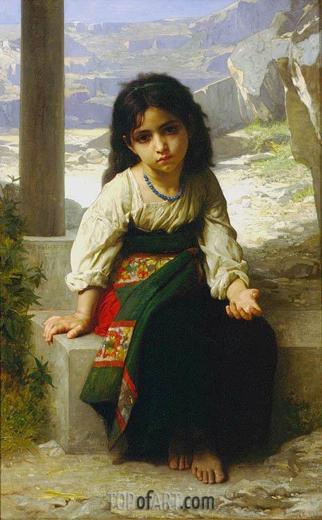 Bouguereau | The Little Beggar, 1880