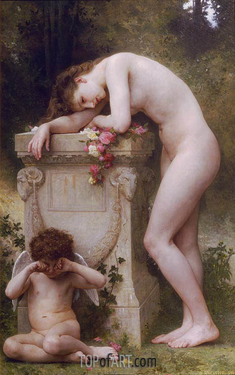 Douleur d'amour (Elegy), 1899 | Bouguereau| Painting Reproduction