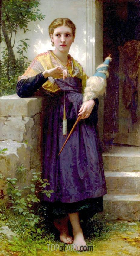Bouguereau | The Spinner, 1873