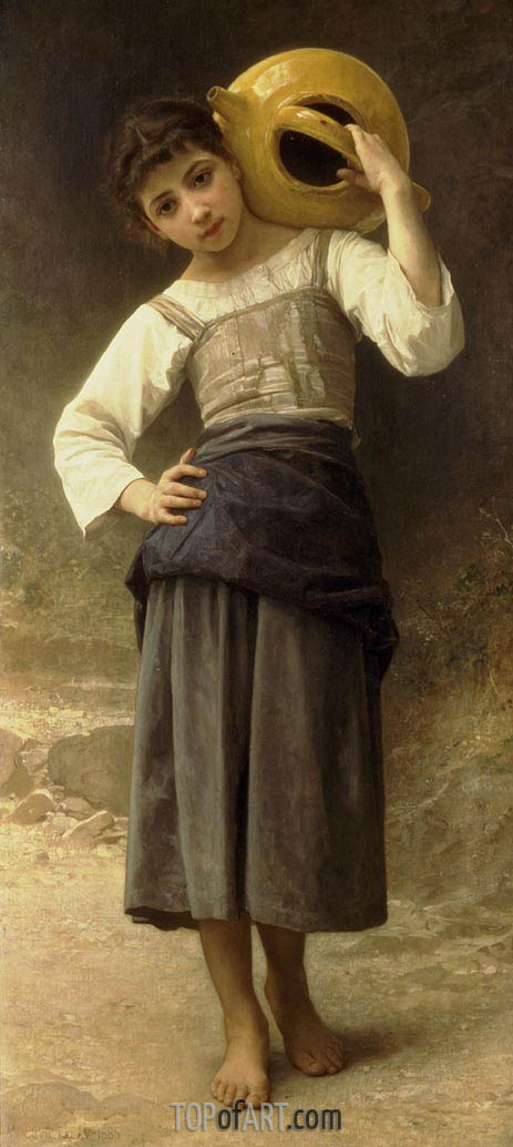 Bouguereau | Young Girl Going to the Fountain, 1885