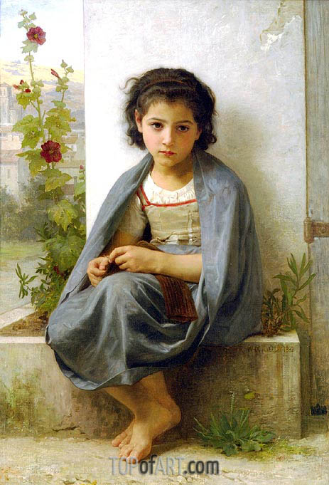 Bouguereau | The Little Knitter, 1882