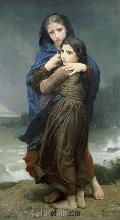 The Storm, 1874 | Bouguereau | Painting Reproduction