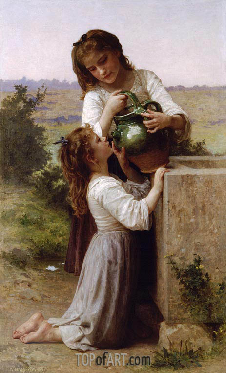 At the Fountain, 1897 | Bouguereau | Painting Reproduction