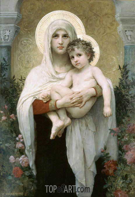 The Madonna of the Roses, 1903 | Bouguereau| Gemälde Reproduktion