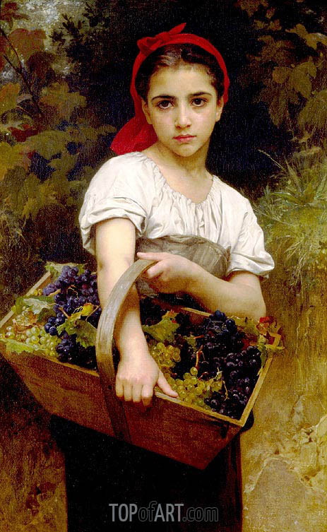 Bouguereau | The Grape Picker, 1875
