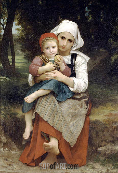 Breton Brother and Sister, 1871 | Bouguereau | Painting Reproduction