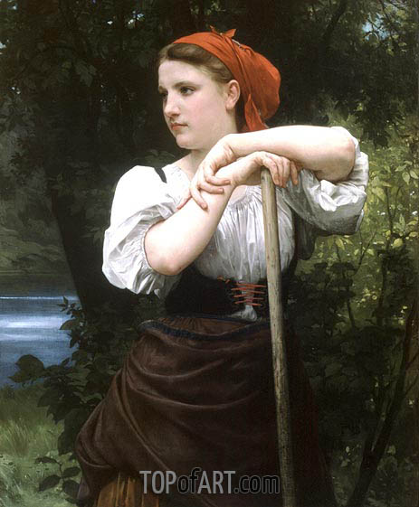 The Haymaker, 1869 | Bouguereau | Painting Reproduction