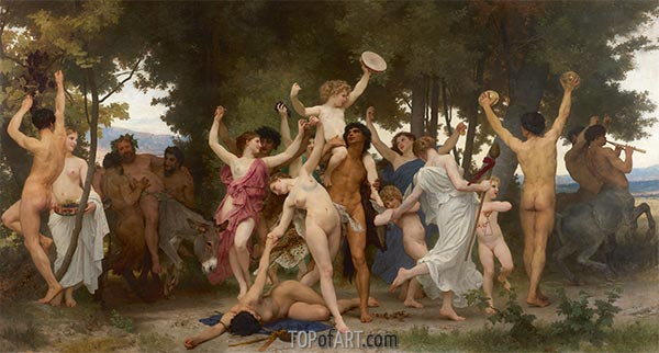 The Youth of Bacchus, 1884 | Bouguereau | Painting Reproduction
