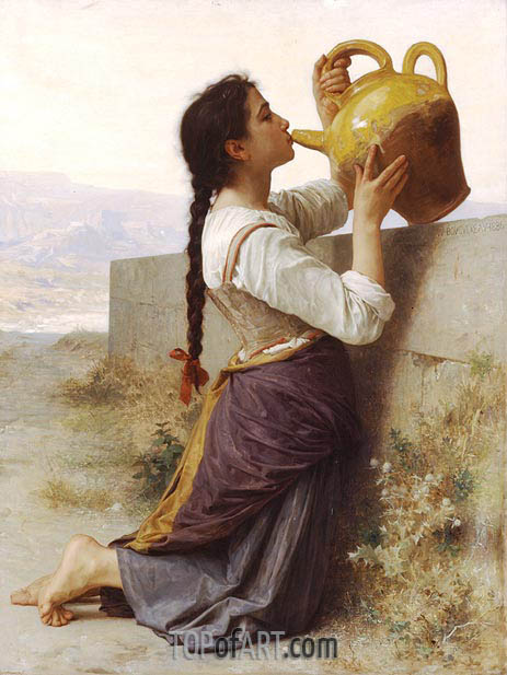 Thirst, 1886 | Bouguereau | Painting Reproduction