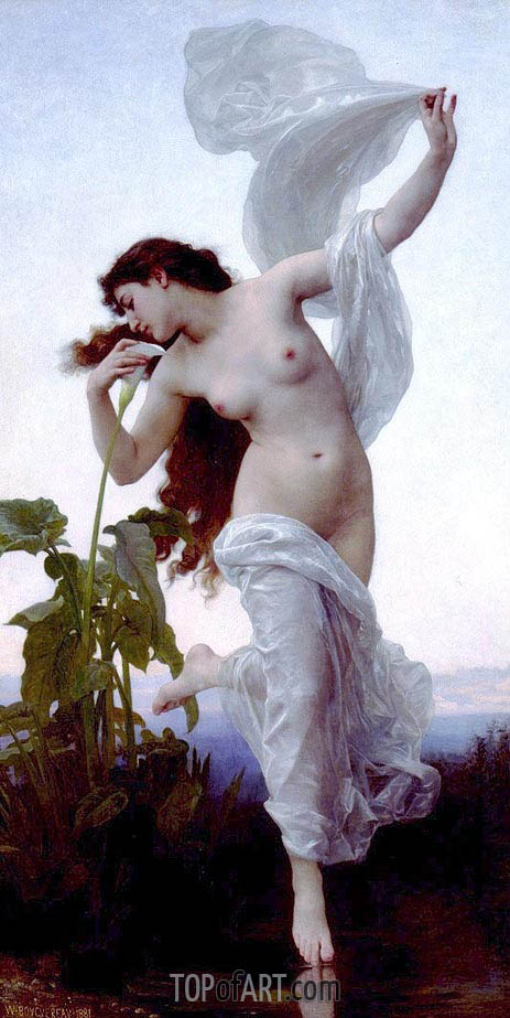 L'aurore (Dawn), 1881 | Bouguereau | Painting Reproduction