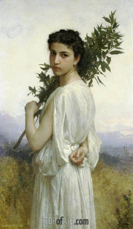 Laurel Branch, 1900 | Bouguereau | Painting Reproduction