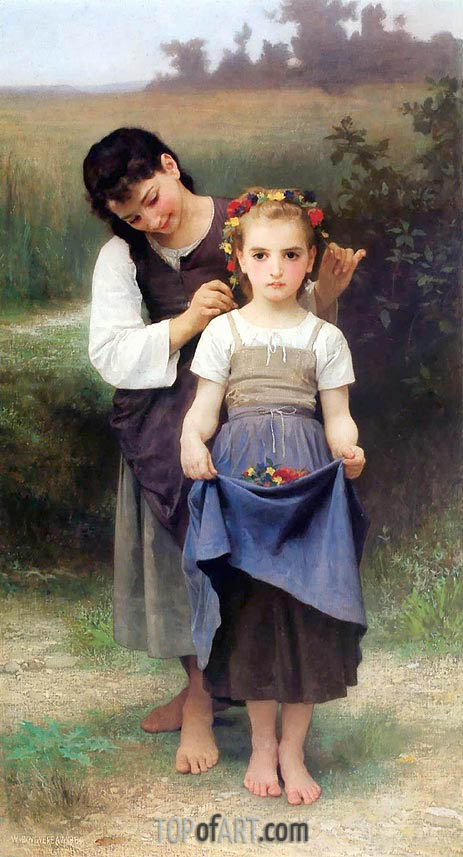 The Jewel of the Fields, 1884 | Bouguereau | Gemälde Reproduktion