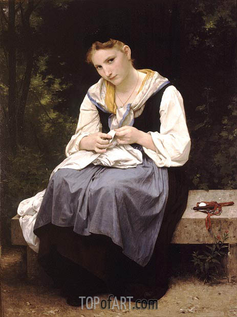 Bouguereau | Young Worker, 1869