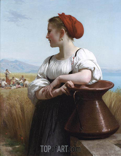The Harvester, 1868 | Bouguereau| Painting Reproduction