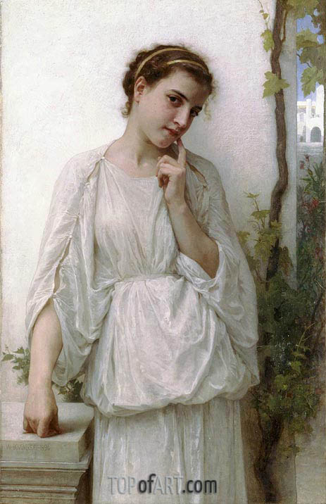 Revery, 1894 | Bouguereau | Painting Reproduction