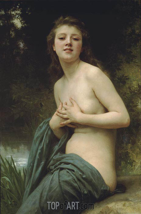 Spring Breeze, 1895 | Bouguereau| Painting Reproduction