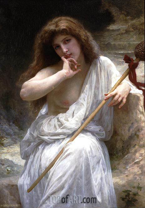 Bacchante, 1899 | Bouguereau| Painting Reproduction