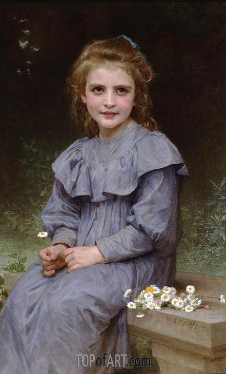 Daisies, 1894 | Bouguereau| Painting Reproduction