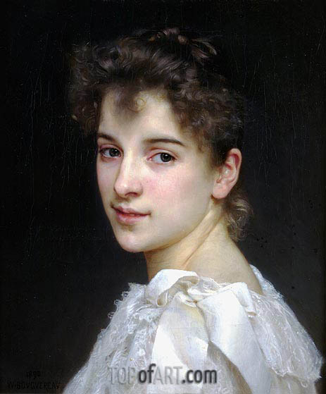Portrait of Gabrielle Drienza, 1890 | Bouguereau| Painting Reproduction