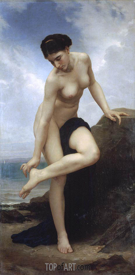 After the Bath, 1875 | Bouguereau | Gemälde Reproduktion