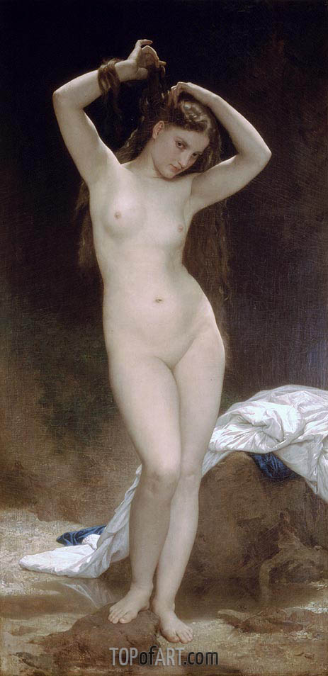 Bather, 1870 | Bouguereau| Painting Reproduction