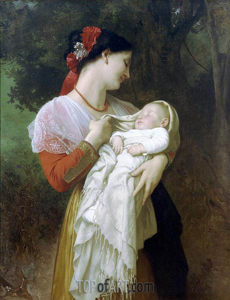 Maternal Admiration, 1869 | Bouguereau| Painting Reproduction