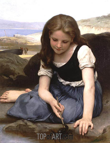 The Crab, 1869 | Bouguereau| Painting Reproduction