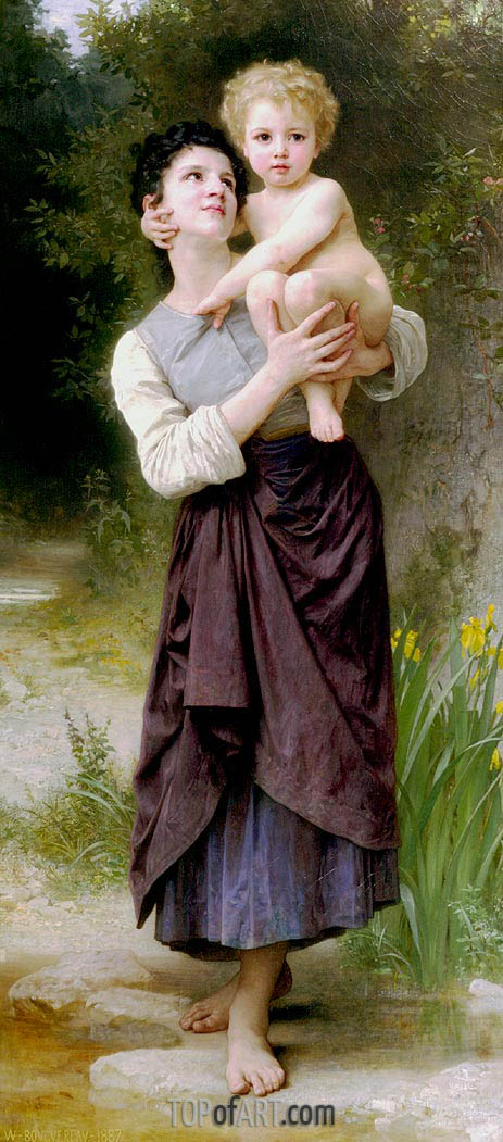 Brother and Sister, 1887 | Bouguereau| Gemälde Reproduktion