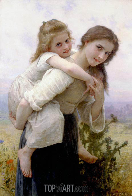 Bouguereau | Not too Much to Carry, 1895