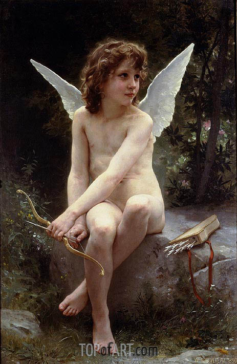 Love on the Look Out, 1890 | Bouguereau | Gemälde Reproduktion