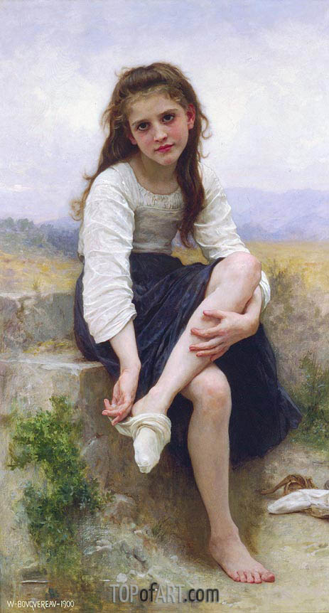 Before the Bath, 1900 | Bouguereau| Gemälde Reproduktion