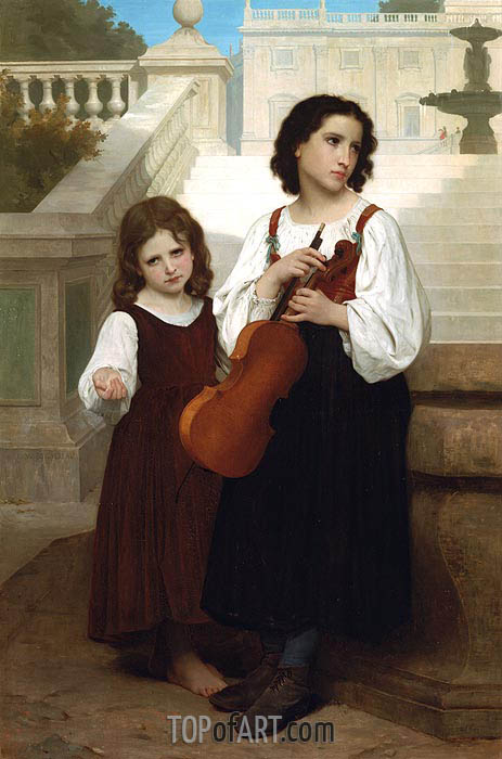 Far from Home, 1867 | Bouguereau| Painting Reproduction