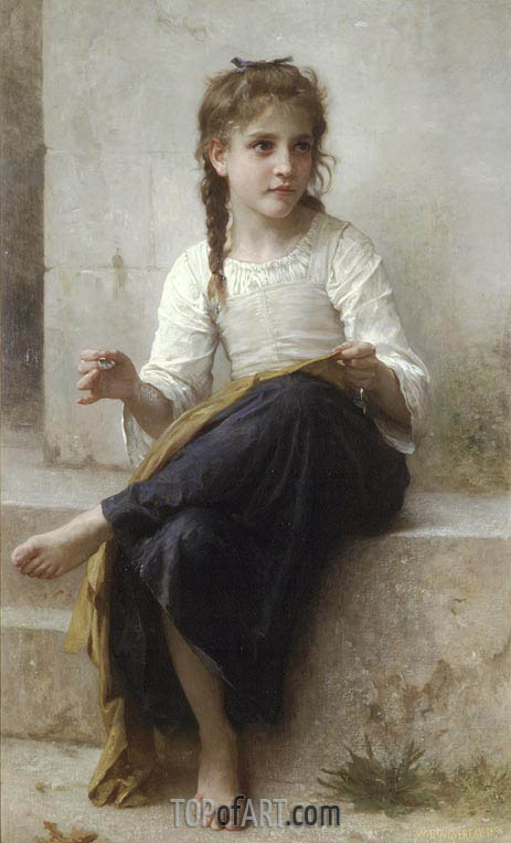Bouguereau | Sewing, 1898