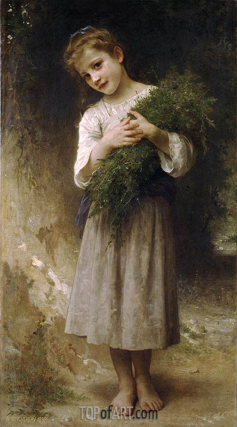 Returned from the Fields, 1898 | Bouguereau | Painting Reproduction