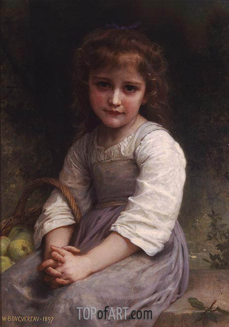 Apples, 1897 | Bouguereau| Painting Reproduction
