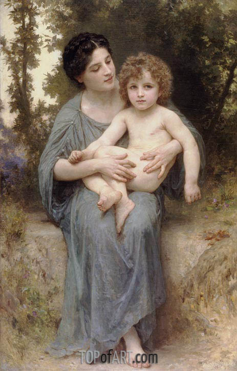 Bouguereau | Little Brother, 1902