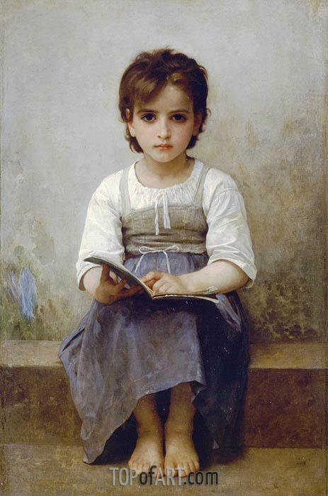 The Difficult Lesson, 1884 | Bouguereau | Painting Reproduction