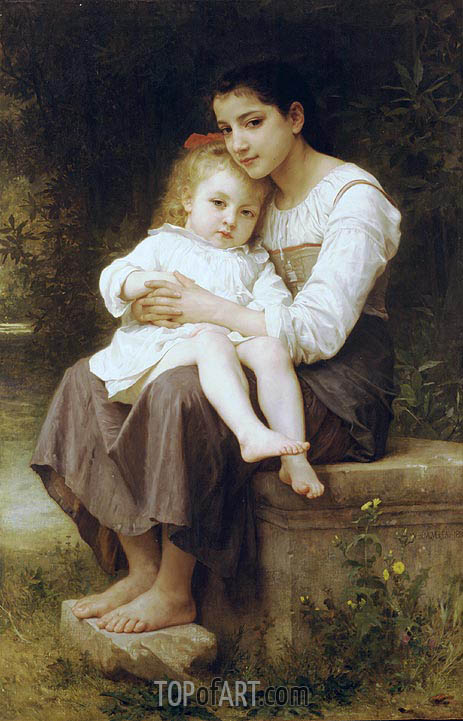 Bouguereau | Big Sis', 1886