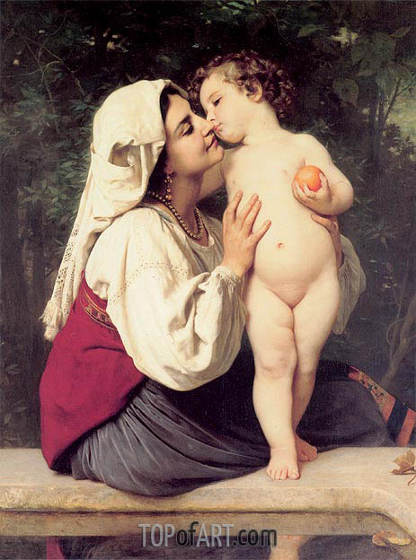 Bouguereau | The Kiss, 1863