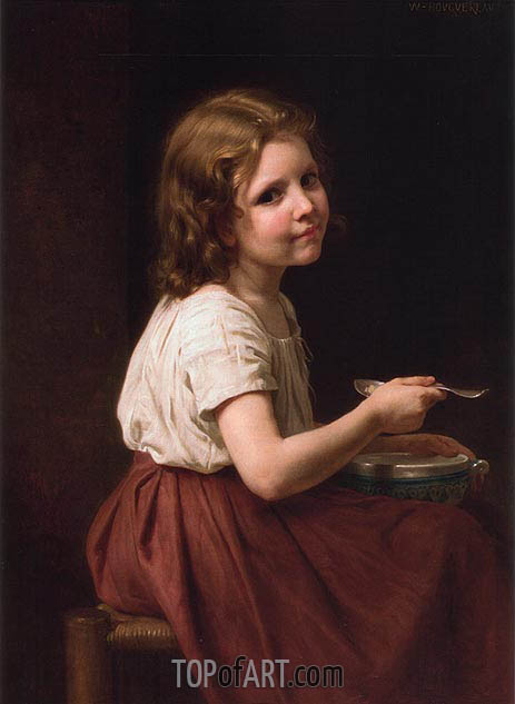 Soup, 1865 | Bouguereau | Painting Reproduction